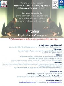 thumbnail of Atelier Psychodrame-Comedy